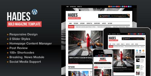 Hades v161 Bold Magazine Newspaper Template - Wordpress - online newspaper template