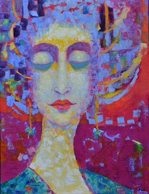 Postać kobiety w amarantach, Lulu w GalleryStore.pl