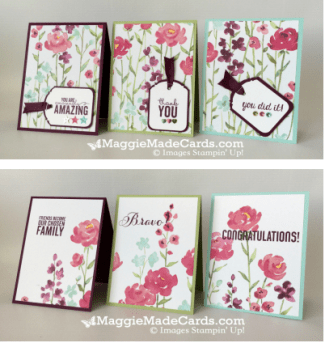 Painted Blooms 6 card set