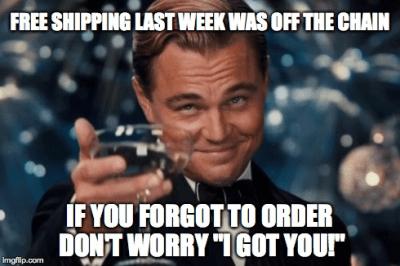 Free Shipping Meme