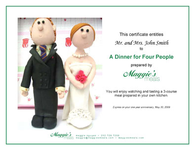 Maggie\u0027s Meals Gift Certificates New York City Catering \u2022 Daily