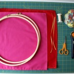 {tutorial: fabric-covered embroidery hoops}