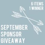 September sponsor giveaway: $340 in prizes