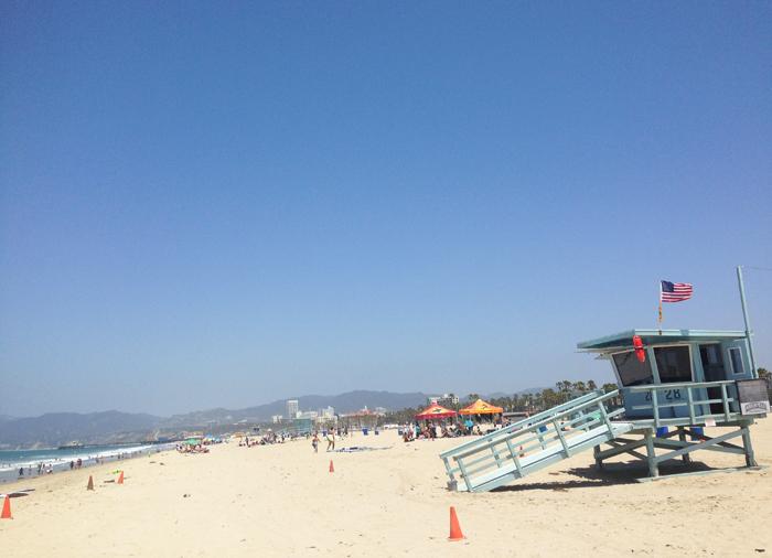santa monica beach maggie whitley