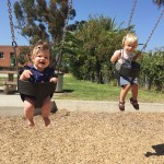 Max & Nat on the swings!