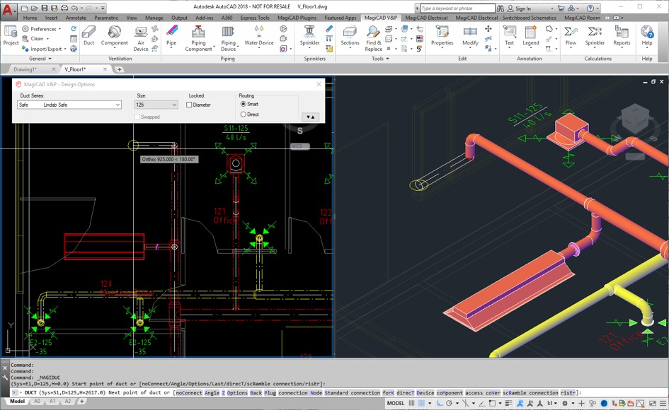 MagiCAD Ventilation for Revit and AutoCAD