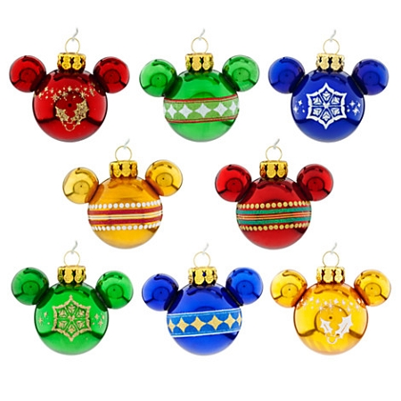 Christmas Ornament Set Mini Mickey Mouse Ears Rainbow Mickey Mouse  Christmas Decorations