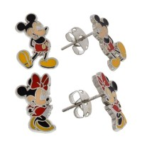 Disney Earrings Set - Mickey and Minnie Mouse - Set of 2
