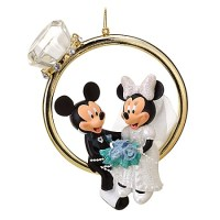 Disney Christmas Ornament - Wedding Ring - Minnie and ...