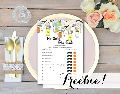 BS505-free-he-said-she-said-yellow-orange-bridal-shower-mason-jars