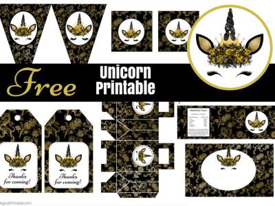 Free-Gold-Unicorn-Party-Printable-Baby-Shower-instant-download