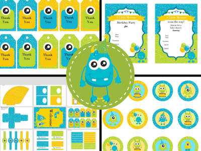 little-monster-party-printable