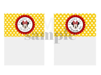 Minnie Mouse Treat Bag Topper