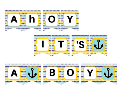 ahoy it's a boy banner