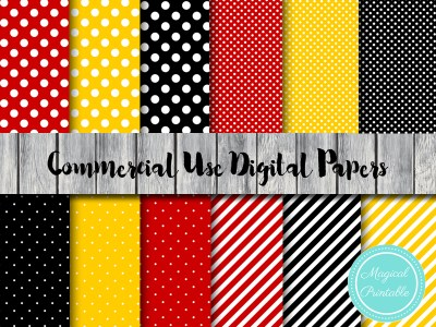 Mickey Mouse Digital Paper