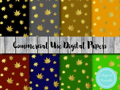 fall digital papers, autumn digital papers, halloween digital papers, scrapbook papers