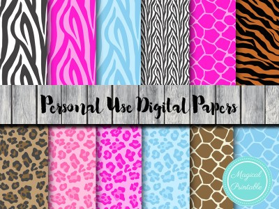 jungle and safari digital papers dp35