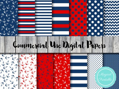 nautical digital papers, beach, ahoy digital papers, sea, scrapbook, DP26