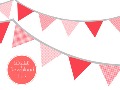 pennant-Red-Gingham-Banner-Bunting-Pennant-Garland-Decorations-for-Baby-Shower-Birthday-Party-Bridal-Shower-Wedding-Decoration-banner