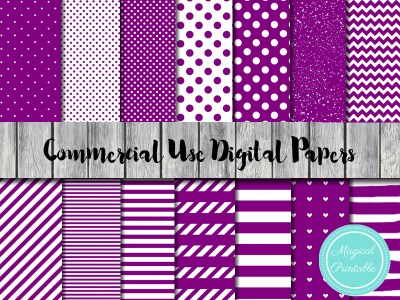purple digial papers, purple scrapbooking paper, purple stripes