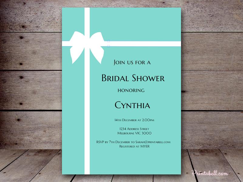 Tiffany Bridal Shower Magical Printable