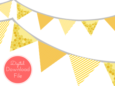 triangle-banner-Honey-Bee-Banner-Bumble-Bee-Bunting-What-will-it-BEE-baby-Shower-Banner-Baby-Shower-Banner-Birthday-Party-Bridal-Shower-Wedding-banner