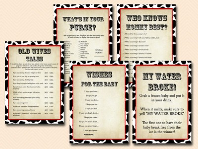Western Cowboy Cowgirl Baby Shower Games