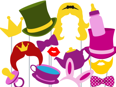 Alice in Wonderland Photo booth Props
