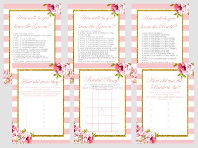 Floral Chic Bridal Shower Games