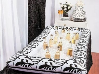 Inflatable-Black &-White-Damask-Buffet-Cooler