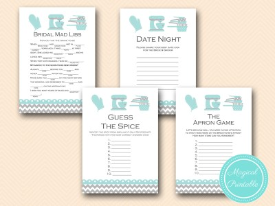 bs76 aqua kitchen themed bridal shower games, cooking bridal shower