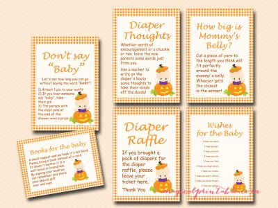 little pumpkin baby shower games, fall baby shower games, tlc106