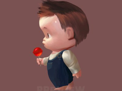 Baby boy Clipart, Baby boy with a red lollipop Clipart, Little gentleman boy, Instant Download