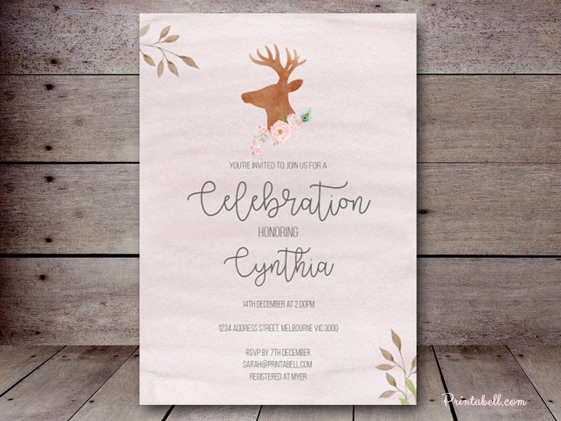 Editable Bridal Shower Invitations Magical Printable