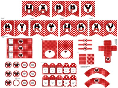 Minnie Mouse Birthday pack