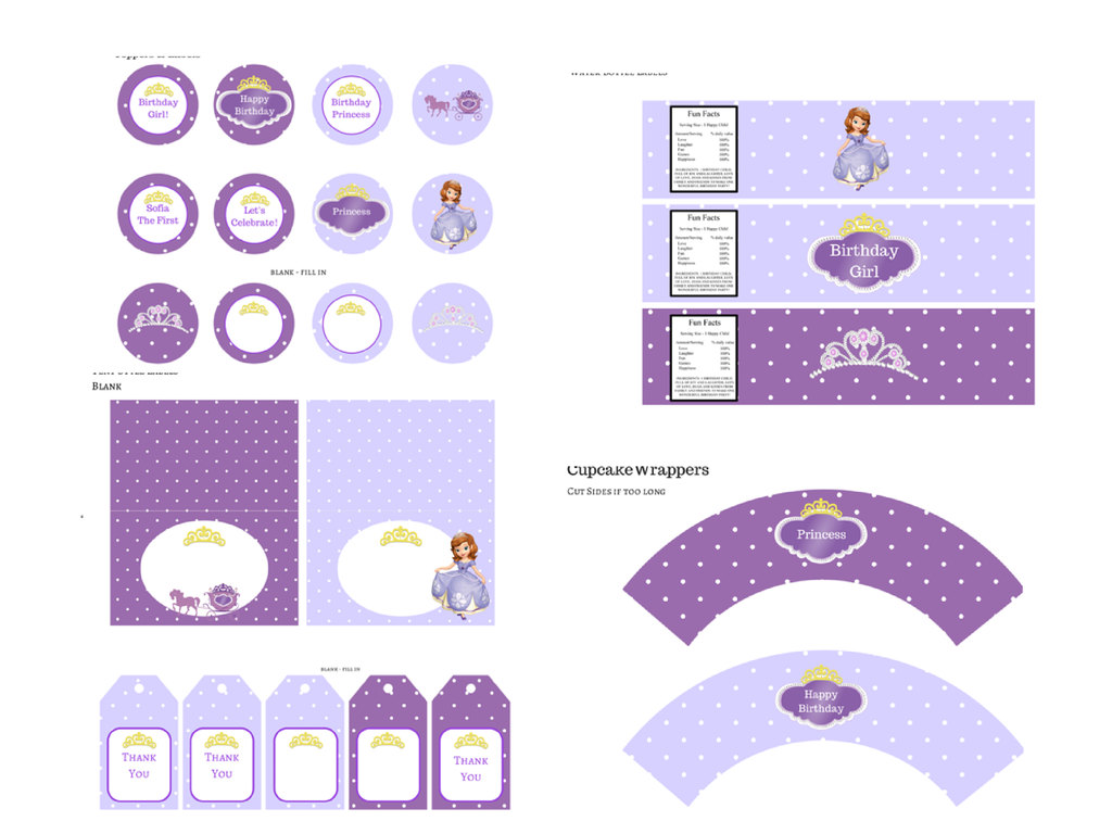 princess sofia printables