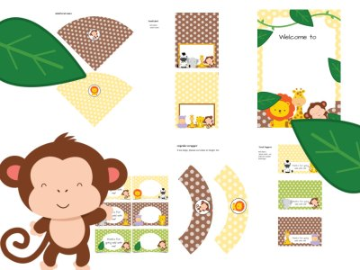 jungle baby shower package