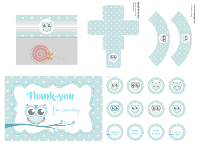 Owl Baby Shower, Owl Birthday, Owl Birthday Party, Owl Baby Shower Invitation, Owl Banner, Owl Party Package, boy baby shower, blue Owl