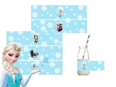 frozen printable water bottle label