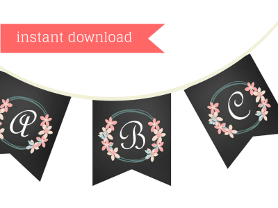Chalkboard bridal shower printable