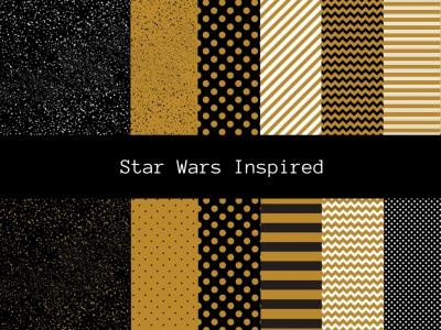Digital Paper, Scrapbook Paper, Starwars digital paper, starwars inspired digital paper, background