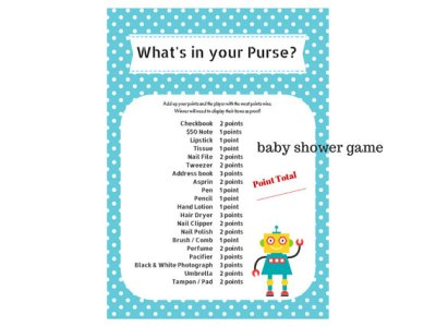robot baby shower game