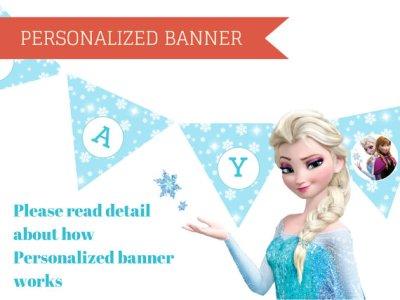 Frozen Elsa Banner, Elsa Banner