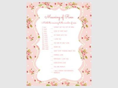 pink shabby floral bridal shower game pack5