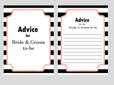 chanel inspired bridal shower games, advice for bride to be, advice for bride and groom to be, apron game, date night cards, famous love quotes, good wife guide 1950's, how old was the bride to be, how old were they, recipe cards, scramble , traditions, why do we do that?, what's in your cellphone, what's in yout purse
