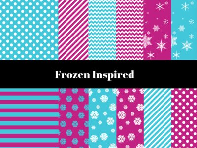 Frozen Digital Paper Pack, Frozen Digital Paper, Frozen Digital Paper Collection, Snow Digital Paper, Snowflakes digital paper