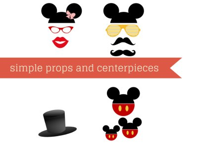 Mickey Mouse Party Package, Mickey Mouse Birthday Party, Instant Download Mickey Mouse Printable Party Pack, Red Dots, Minnie Mouse Party props