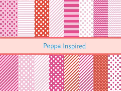 Pink Peppa Pig Digital Paper, Peppa Digital Paper, Peppa Background, Peppa scrapbooking, Pig digital paper, Peppa inspired
