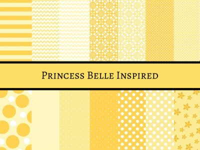 Princess Belle digital paper, Belle Inspired Digital paper, Disney Princess Belle, Beauty and the beast digital paper, Belle Scrapbook Paper, beauty and the beast digital papers, background