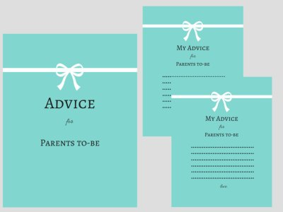 tiffanys baby shower advice for mommy to be cards and sign baby shower